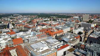 Leipzig: Blick auf die Innenstadt - Foto: Andreas Schmidt