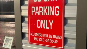 Glinder V.I.P parkering i mjölby