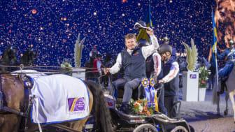 Boyd Exell, ständigt på topp. Världsmästare, världscupmästare och segrare på Friends Arena 2017. Foto: Roland Thunholm