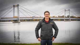 Stig Engström, engcons grunnlegger og eier, i Strömsundsbron