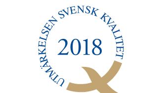 2018 tilldelas Utmärkelsen Svensk Kvalitet Internetstiftelsen och MTR Tunnelbanan.