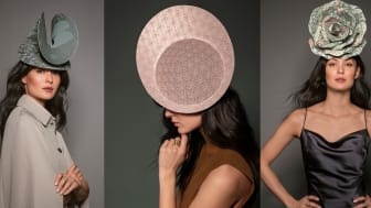 Malinda Damgaard gör hattar av tapet för Boråstapeter
