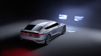 Audi A6 e-tron concept med digitale Matrix LED-forlygter