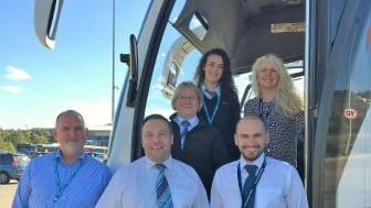 Back L-R: Rachael Hall from Go North East with Audrey O'Connor, National Express. Tracy Hannington, Go North East. Front L-R: Keith Robertson and Nathan Carr from Go North East with Nick Badham, National Express