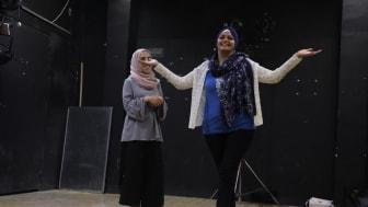 Foto från ett annat projekt Clowner utan Gränser driver i Palestina för att stärka kvinnors psykiska hälsa
