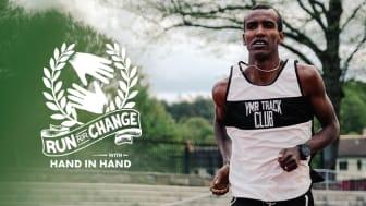 Mustafa Mohamed är ambassadör för Run for Change