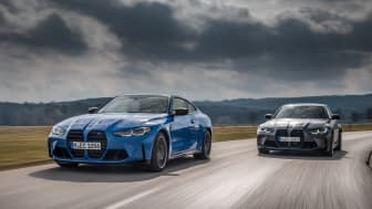 Helt nye BMW M3 Sedan og BMW M4 Coupé med M xDrive: Krefter på fire eller to hjul