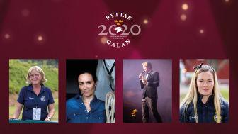 Elisabet Lundholm, Lisen Bratt Fredricson, Henrik Johnsson och Lina Dolk finns på plats i studion när Ryttargalan sänds live på torsdag 28 januari med start 20:00.