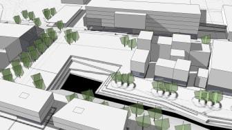Torgbildning knyter samman Campus Valla i Linköping med bomässa och ny stadsdel