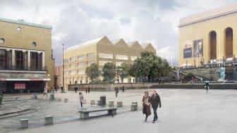 Campus Näckrosen, Göteborgs universitet, parallella uppdrag Götaplatsen, Tham & Videgård Arkitekter
