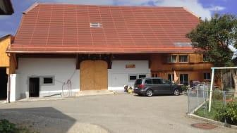 Eksempelbilde hus med terrakotta solcelletak
