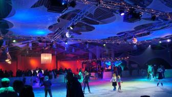 Die Eislauffläche des GLOBANA Messe & Conference Center