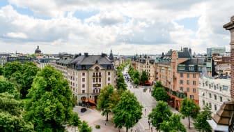 Engelbrektsplan i Stockholm. Utsikt från T-House.