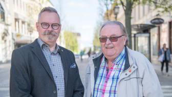 Johan Hellsten, ansvarig för val på Örebro kommuns Valkansli och Karl-Gustav Granberg, ordförande i Valnämnden.