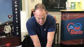 Steve Morris demonstrates CPR, Rye station