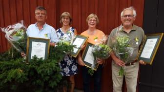 Medaljörer från vänster Claerens Jacobsen, Gunnel Holm, Eva Gustavsson och Roland Gustavsson.