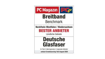 PCgo hat getestet: Wer bietet auf regionaler Ebene das beste Internet-Nutzererlebnis? Im ländlichen Nordrhein-Westfalen und Niedersachsen ist es Deutsche Glasfaser.