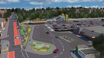 The new artist's impression of the new Kidderminster station