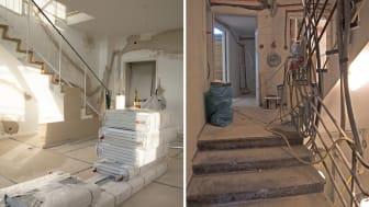Restaureringen av Peterstorp trummar på