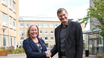 Dominika Rydel, vd Avanti och Per Jonasson, vd SKVP i samband med att överenskommelsen beslöts.