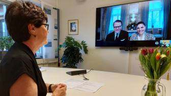 Videomöte med Kronprinsessparet