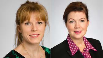 Christine Lorne (C) folkhälsoberedningens ordförande och Anna Starbrink (L) hälso- och sjukvårdsregionråd.