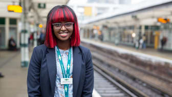 Getting on: Ramla Abshir-Slevin is an Apprentice Station Manager with Govia Thameslink Railway  FURTHER IMAGE AND VIDEOS BELOW