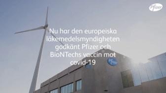 Pfizer och BioNTech får första EU-godkännande för vaccin mot covid-19