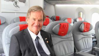 Björn Kjos onboard Dreamliner