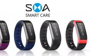 SMA - Aktivitetsarmbånd med en rekke funksjoner. Blant annet har den skritt-teller, søvnmåler, alarm, meldings- og anropsfunksjon. Den er nett og fin, samtidig som den er praktisk og smart.