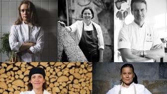 Årets meny på Kockarnas Krog görs av: Louise Johansson, Malin Söderström, Fredrik Eriksson, Maria Printz och Frida Nilsson.