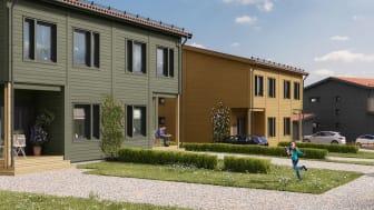 Byggstart för par- och radhus i Knivsta efter säljsuccé