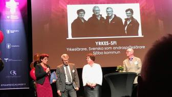 Anna-Maria, Marie, Rolf och Leif blev Årets team på Framtidsgalan.
