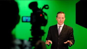 A shoot in progress at our green screen studio located at Shenton Way