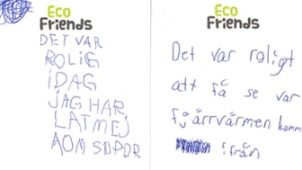 Barnen har fått lämna kommentarer efter sitt besök om vad de tyckte.