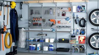 System og orden i garagen med Elfa.