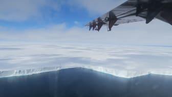 The edge of the Brunt Ice Shelf (credit:Jan De Rydt)