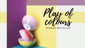 The ombré effect gives Thomas BeColour a trendy look.