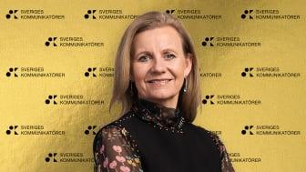 Hélène Barnekow, vd Microsoft Sverige, tog emot priset för bästa kommunikativa ledare 2021.