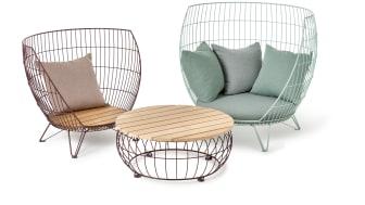 Basket furniture group, design Ola Gillgren för Nola.