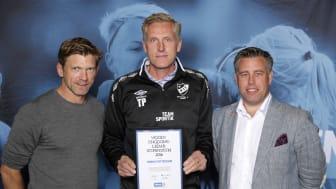 Thomas Pettersson, Kronängs IF. Här tillsammans med Jesper Blomqvist och Mikael Tykesson.