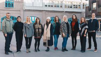 Fr v. Pontus Bengtsson, Erika Sandberg, Sara Sandström (pausat deltagandet), Nathalie Shik, Agnes Sjöström, Caroline Kjellsson, Sanna Jonsson, Hilda H Strandberg, Hanna Jansson och Petter Hendfridsson. FOTO: Bea Holmberg.