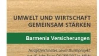 Label als ausgezeichnetes Leuchtturmprojekt für Barmenia Versicherungen