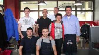"""Team der Pizzaria """"Il Largo"""" am Kap in Zwenkau"""