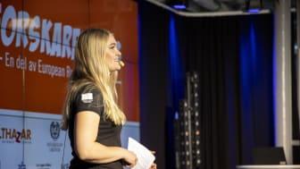 Tanja Lundberg presenterar ForskarFredag 2020.