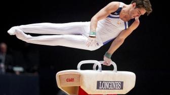 Michael Trane, regerande mästare i manlig artistisk gymnastik.