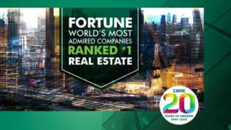 "CBRE nummer 1 på  ""FORTUNE'S MOST ADMIRED LIST"""