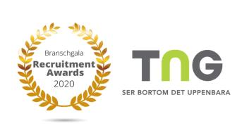 TNG nominerade till Årets Rekryteringsföretag på Recruitment Awards 2020