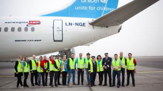 Norwegian och UNICEF:s plan med nödhjälp är nu på väg till Jordanien