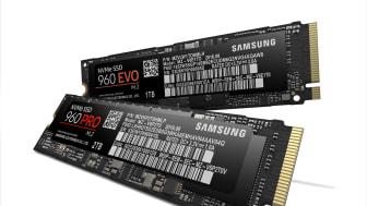 Samsung 960 PRO och EVO – kraftfulla SSD-enheter för NVMe